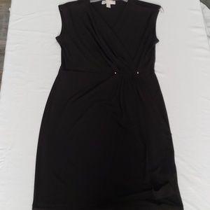 Michael Kors black faux wrap dress